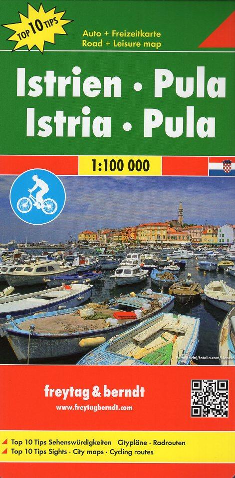 Istrien, Pula 1:100.000 9783707916577  Freytag & Berndt   Fietskaarten, Landkaarten en wegenkaarten Kroatië