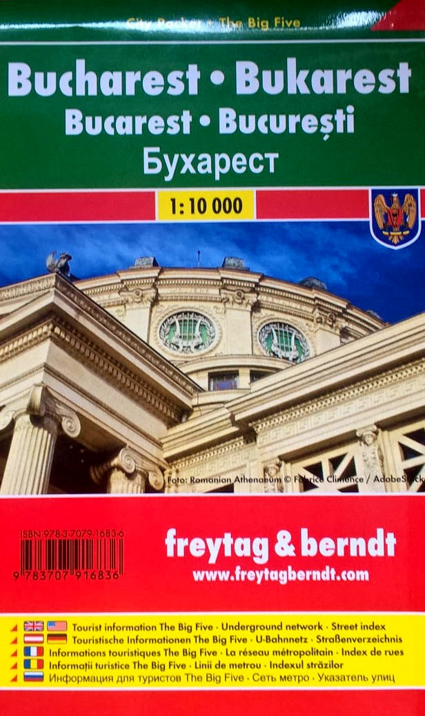 Bukarest  (Boekarest, Bucharest) 1:10.000 | stadsplattegrond 9783707916836  Freytag & Berndt Compact plattegrond  Stadsplattegronden Roemenië, Moldavië