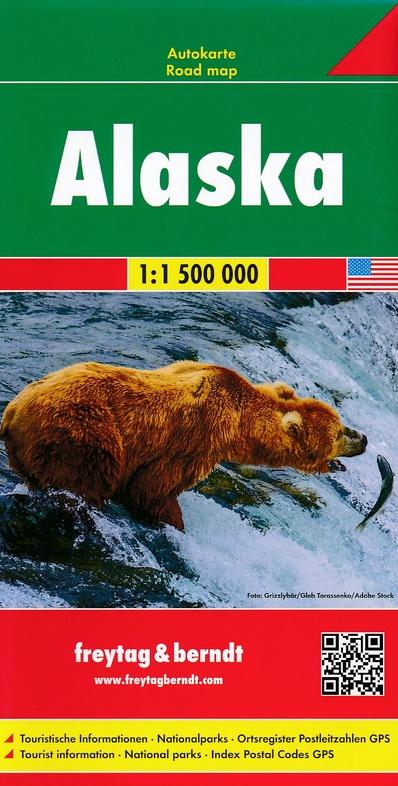 Alaska | wegenkaart,  autokaart 1:1.500.000 9783707916843  Freytag & Berndt   Landkaarten en wegenkaarten Alaska