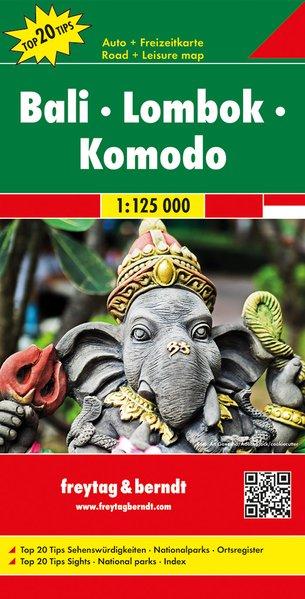Bali, Lombok & Komodo | autokaart, wegenkaart 1:125.000 9783707917161  Freytag & Berndt   Landkaarten en wegenkaarten Indonesië