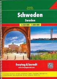 Zweden 1:400/000 9783707917451  Freytag & Berndt Wegenatlassen  Wegenatlassen Zweden