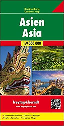 Azië | overzichtskaart 1:9.000.000 9783707917604  Freytag & Berndt   Landkaarten en wegenkaarten Azië