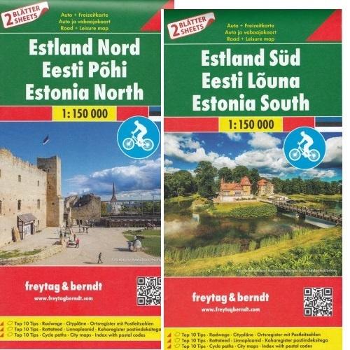 Estland | wegenkaart, autokaart, fietskaart 1:150.000 9783707917727  Freytag & Berndt   Fietskaarten, Landkaarten en wegenkaarten Estland