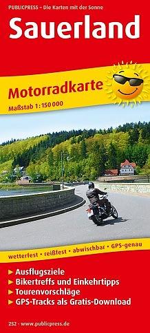Sauerland 1:150.000 9783747302521  Publicpress Motorradkarten - mit der Sonne  Landkaarten en wegenkaarten, Motorsport Sauerland