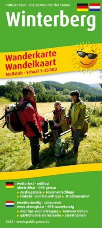 Winterberg, omgeving 1:25.000 9783747306550  Publicpress Wandelkaarten - mit der Sonne  Wandelkaarten Sauerland
