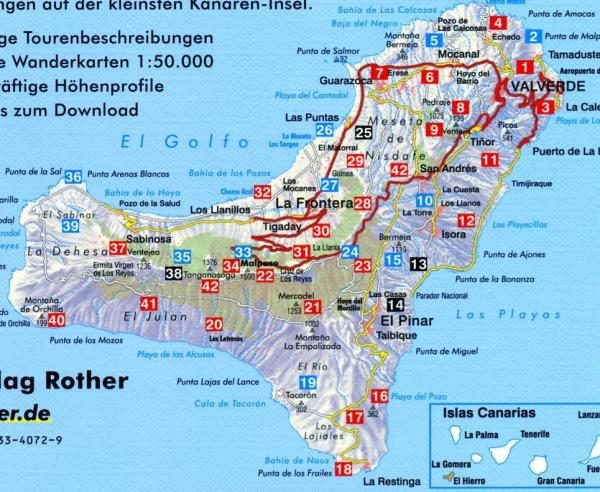 Rother wandelgids El Hierro | Rother Wanderführer 9783763340729  Bergverlag Rother RWG  Wandelgidsen El Hierro