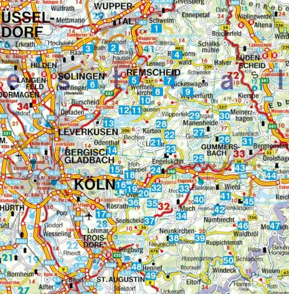 Rother wandelgids Bergisches Land | Rother Wanderführer 9783763341801  Bergverlag Rother RWG  Wandelgidsen Düsseldorf, Wuppertal & Bergisches Land