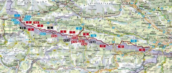 Rother wandelgids Karnischer Höhenweg | Rother Wanderführer 9783763344048 Evamaria Wecker Bergverlag Rother RWG  Meerdaagse wandelroutes, Wandelgidsen Salzburg, Karinthië, Tauern, Stiermarken