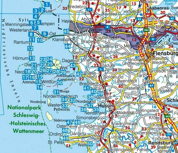 Sylt, Amrum, Föhr | Rother Wanderführer (wandelgids) 9783763344215  Bergverlag Rother RWG  Wandelgidsen Sleeswijk-Holstein