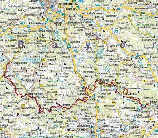 Rother wandelgids Altmühltal - Panoramaweg | Rother Wanderführer 9783763344703  Bergverlag Rother RWG  Meerdaagse wandelroutes, Wandelgidsen Franken, Nürnberg, Altmühltal