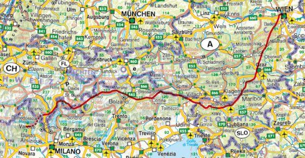 Rother wandelgids Wien – Lago Maggiore   Rother Wanderführer 9783763345106  Bergverlag Rother RWG  Meerdaagse wandelroutes, Wandelgidsen Zwitserland en Oostenrijk (en Alpen als geheel)