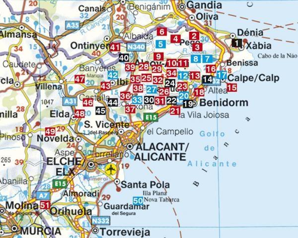 Costa Blanca Rother Walking Guide   wandelgids 9783763348374  Rother Wandelgidsen (E)  Wandelgidsen Costa Blanca