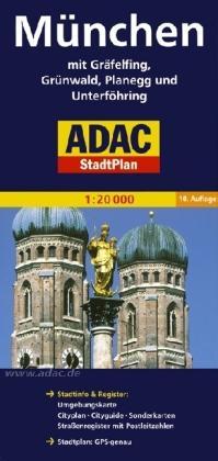 München 9783826405334  ADAC ADAC Stadsplattegrond  Stadsplattegronden München en omgeving
