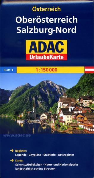 AO-3 Salzburg/Salzkammergut/Innviertel/Mühlv. 9783826416392  ADAC Österr. 1:150.000  Landkaarten en wegenkaarten Salzburg, Karinthië, Tauern, Stiermarken