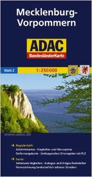 Mecklenburg-Vorpommern 1:250.000 9783826423147  ADAC Bundesländerkarten  Landkaarten en wegenkaarten Mecklenburg-Vorpommern