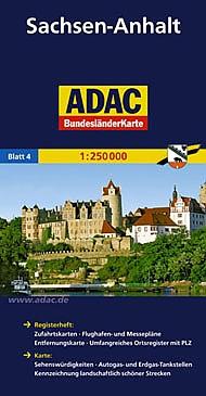 Sachsen-Anhalt 1:250.000 9783826423161  ADAC Bundesländerkarten  Landkaarten en wegenkaarten Brandenburg & Sachsen-Anhalt