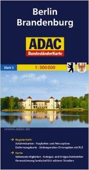 Berlin. Brandenburg 1:300.000 9783826423178  ADAC Bundesländerkarten  Landkaarten en wegenkaarten Berlijn, Brandenburg & Sachsen-Anhalt