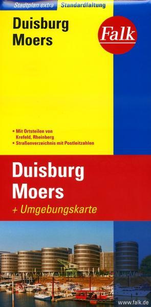 Duisburg, Moers 1:20.000 9783827922762  Falk Stadsplattegronden  Stadsplattegronden Ruhrgebied