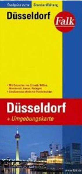 Düsseldorf 9783827922786  Falk Stadsplattegronden  Stadsplattegronden Düsseldorf, Wuppertal & Bergisches Land
