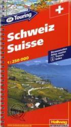 Schweiz Touring 1:250.000 9783828300484  Hallwag Wegenatlassen  Wegenatlassen Zwitserland