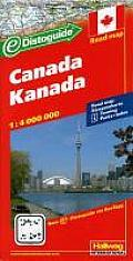 Canada 1:4.000.000 9783828304666  Hallwag   Landkaarten en wegenkaarten Canada