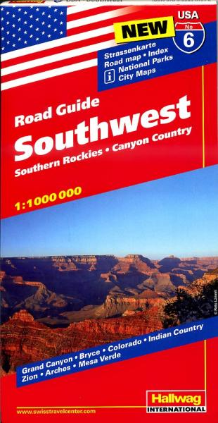 USA-06  Southwest / Southern Rockies 1:1.000.000 9783828307575  Hallwag USA Road Guides  Landkaarten en wegenkaarten Colorado, Arizona, Utah, New Mexico