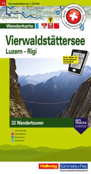 Zuger See, Vierwaldstättersee 1:50.000 (11) 9783828308398  Kümmerly & Frey Wandelkaarten Zwitserland  Wandelkaarten Noordoost- en Centraal Zwitserland