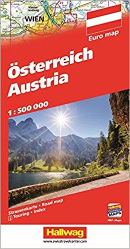 Oostenrijk, met reg., 1:500.000 9783828308985  Hallwag   Landkaarten en wegenkaarten Oostenrijk