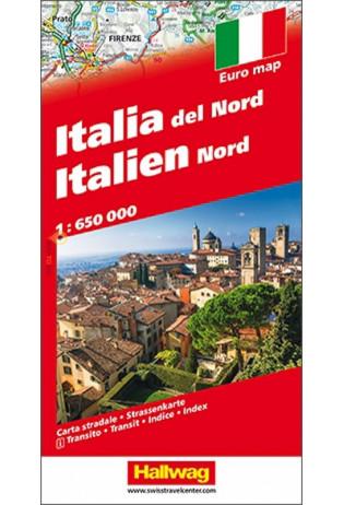 Italie, Noord-, met reg., 1:650.000 9783828309012  Hallwag Italië Wegenkaarten  Landkaarten en wegenkaarten Italië
