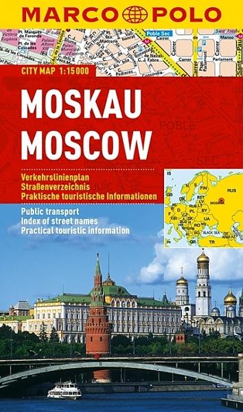 Moskau 1:15.000 | Marco Polo 9783829730686  Marco Polo (D)   Stadsplattegronden Europees Rusland