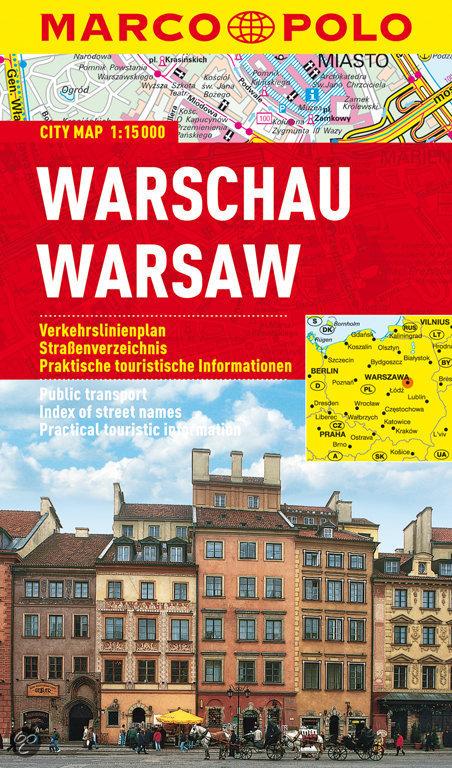 Warschau stadsplattegrond 1:15.000 9783829730884  Marco Polo (D) MP stadsplattegronden  Stadsplattegronden Polen