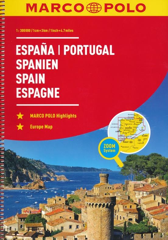 Spanje, Portugal 1/300.000 9783829736893  Marco Polo (D) Wegenatlassen  Wegenatlassen Spanje