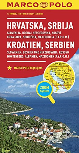 wegenkaart/landkaart voormalig Joegoslavië 1:800d. 9783829738347  Marco Polo (D) MP Wegenkaarten  Landkaarten en wegenkaarten Balkan