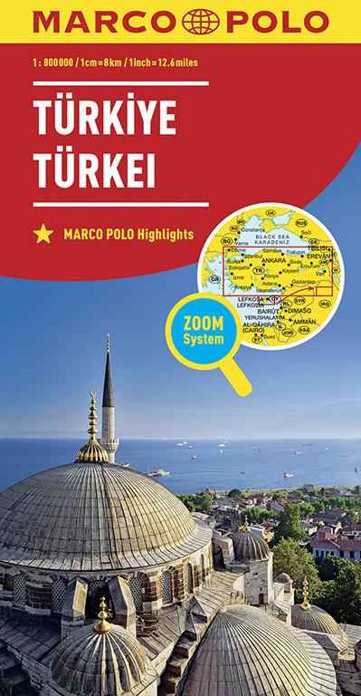 Türkei 1:800.000 9783829738477  Marco Polo (D) MP Wegenkaarten  Landkaarten en wegenkaarten Turkije