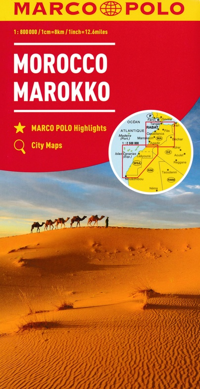 Marokko 1:800.000 9783829739290  Marco Polo (D) MP Wegenkaarten  Landkaarten en wegenkaarten Marokko