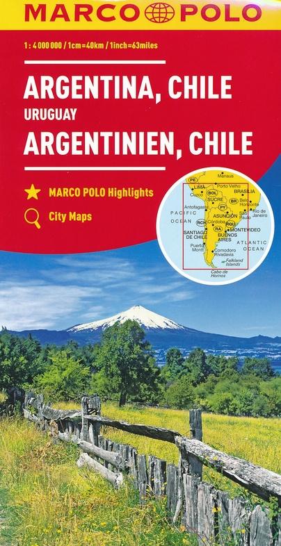 Zuid-Amerika Zuid 1:4.000.000 9783829739375  Marco Polo (D) MP Wegenkaarten  Landkaarten en wegenkaarten Zuid-Amerika (en Antarctica), Zuidelijk Zuid-Amerika