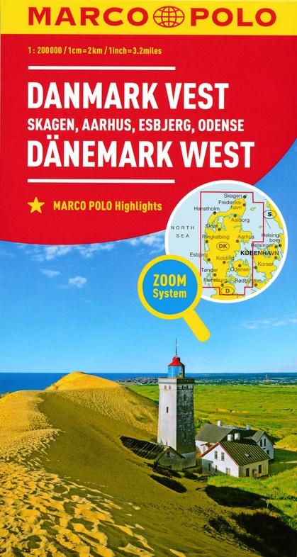 Den.1 Jutland | landkaart / wegenkaart 1:200.000 9783829739672  Marco Polo (D) MP Wegenkaarten  Landkaarten en wegenkaarten Denemarken