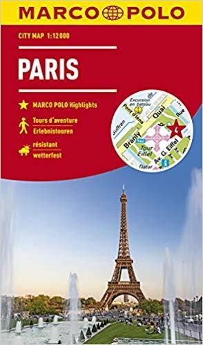 Parijs, stadsplattegrond 1:15.000 9783829741835  Marco Polo (D) MP stadsplattegronden  Stadsplattegronden Parijs, Île-de-France