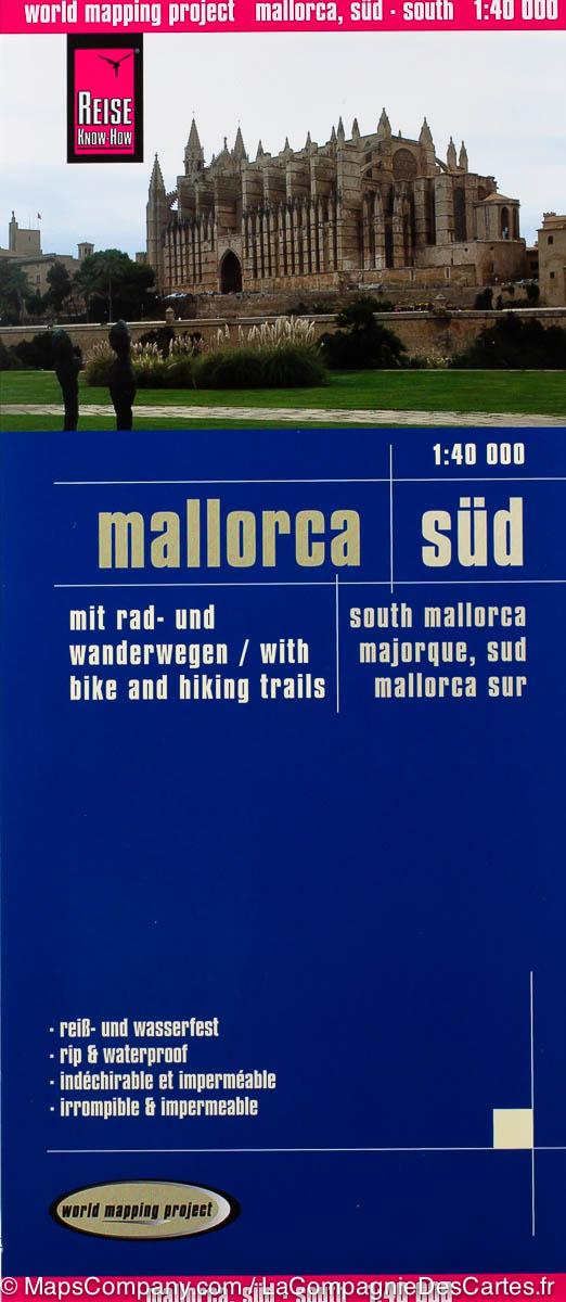 Mallorca - zuid 1:40.000 9783831770762  Reise Know-How WMP Polyart  Wandelkaarten Mallorca