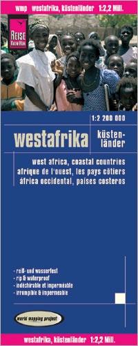 landkaart, wegenkaart Westafrika 1:2.200.000 9783831771769  Reise Know-How WMP Polyart  Landkaarten en wegenkaarten West-Afrikaanse kustlanden (van Senegal tot en met Nigeria)