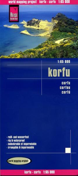landkaart, wegenkaart Corfu 1:65.000 9783831771875  Reise Know-How WMP Polyart  Landkaarten en wegenkaarten Ionische Eilanden (Korfoe, Lefkas, etc.)