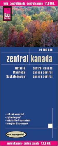 landkaart, wegenkaart Central-Canada 1:1.900.000 9783831772247  Reise Know-How WMP Polyart  Landkaarten en wegenkaarten Canada ten oosten van de Rockies