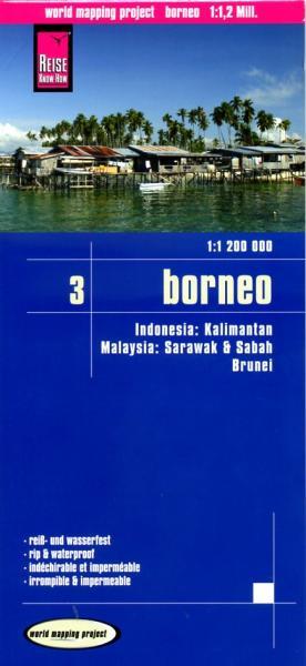 landkaart, wegenkaart Borneo 1:1.200.000 9783831772346  Reise Know-How WMP Polyart  Landkaarten en wegenkaarten Zuid-Oost Azië