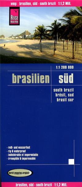 landkaart, wegenkaart Zuid-Brazilië 1:1.200.000 9783831772360  Reise Know-How WMP Polyart  Landkaarten en wegenkaarten Brazilië