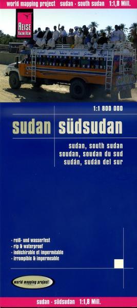 landkaart, wegenkaart Sudan, Zuid-Sudan 1:1.800.000 9783831772544  Reise Know-How WMP Polyart  Landkaarten en wegenkaarten Sahel-landen (Mauretanië, Mali, Niger, Burkina Faso, Tchad, Sudan, Zuid-Sudan)