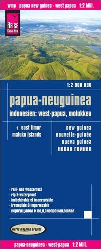 landkaart, wegenkaart Papua New Guinea, Molukken 9783831772643  Reise Know-How WMP Polyart  Landkaarten en wegenkaarten Indonesië