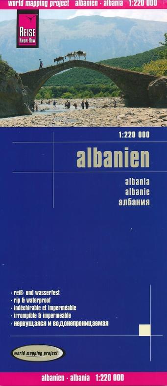 landkaart, wegenkaart Albanië 1:220.000 9783831772674  Reise Know-How WMP Polyart  Landkaarten en wegenkaarten Albanië