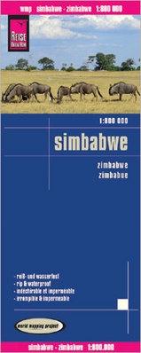 landkaart, wegenkaart Zimbabwe 1:800.000 9783831772704  Reise Know-How WMP Polyart  Landkaarten en wegenkaarten Angola, Zimbabwe, Zambia, Mozambique, Malawi