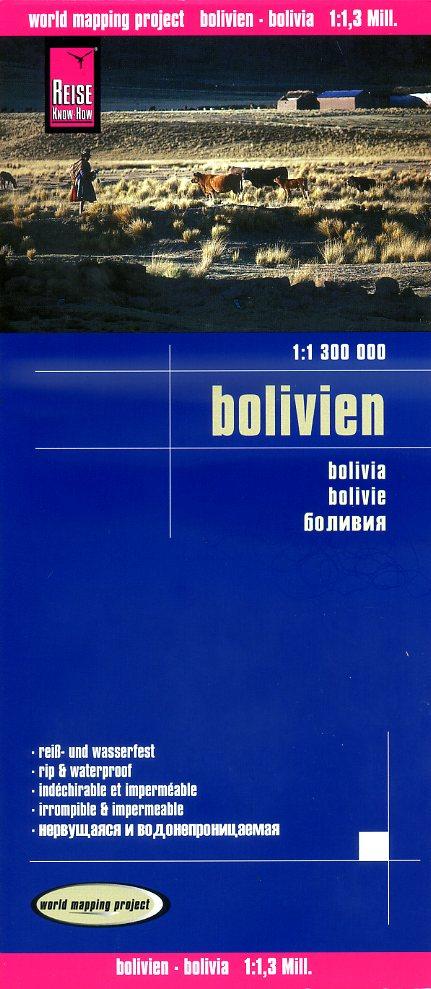 landkaart, wegenkaart Bolivia 1:1.300.000 9783831772766  Reise Know-How WMP Polyart  Landkaarten en wegenkaarten Bolivia