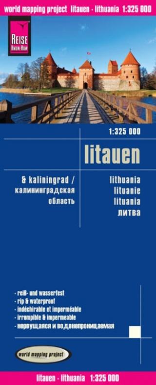 landkaart, wegenkaart Litauen (Litouwen) 1:325.000 9783831772865  Reise Know-How WMP Polyart  Landkaarten en wegenkaarten Vilnius & Litouwen